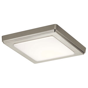 Zeo 7-Inch Square Flushmount Light in Brushed Nickel