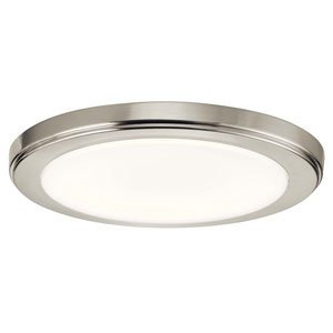 Zeo 10-Inch Round Flush Mount Light in Brushed Nickel