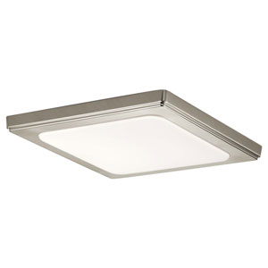 Zeo 10-Inch Square Flush Mount Light in Brushed Nickel