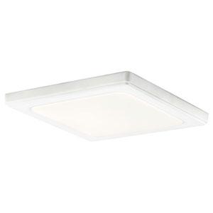 Zeo White 10-Inch Square Flush Mount Light in White