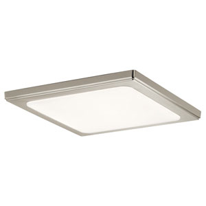 Zeo 13-Inch Square Flush Mount Light in Brushed Nickel
