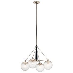 Marilyn 4-Light Chandelier in Polished Nickel