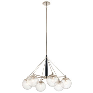 Marilyn 6-Light Chandelier in Polished Nickel