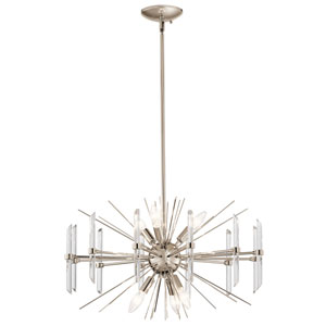 Eris 6-Light Chandelier in Polished Nickel
