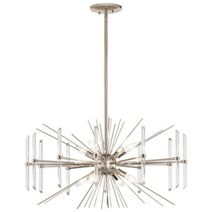 Eris 8-Light Chandelier in Polished Nickel