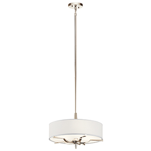 Kinsey Polished Nickel Three-Light Pendant