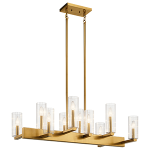 Cleara Fox Gold 10-Light Chandelier