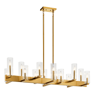 Cleara Fox Gold 14-Light Chandelier