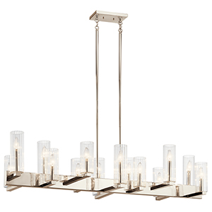 Cleara Polished Nickel 14-Light Chandelier
