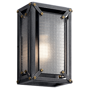 Steel Distressed Black One-Light Wall Sconce