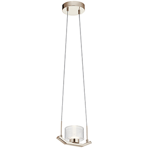 Lasus Polished Nickel LED Pendant