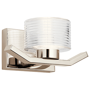 Lasus Polished Nickel LED Wall Sconce