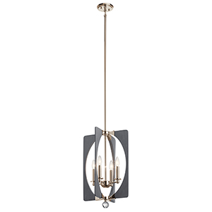 Alscar Driftwood Gray Four-Light Chandelier