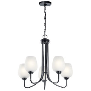 Valserrano Black 24-Inch Five-Light Chandelier