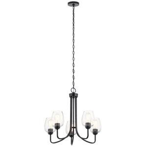 Valserrano Black Five-Light Chandelier