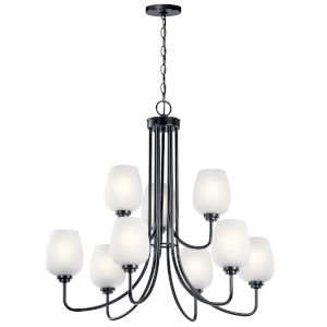 Valserrano Black 32-Inch Nine-Light Chandelier