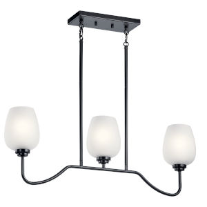 Valserrano Black Five-Inch Three-Light Mini Chandelier