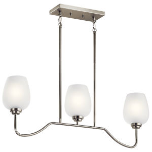 Valserrano Brushed Nickel Five-Inch Three-Light Mini Chandelier