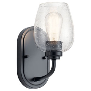 Valserrano Black One-Light Wall Sconce