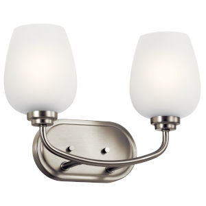 Valserrano Brushed Nickel 15-Inch Two-Light Bath Vanity