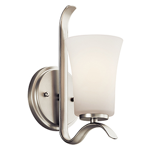 Armida Brushed Nickel One-Light Energy Star LED Wall Sconce