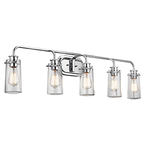 Braelyn Chrome Five-Light Wall Sconce