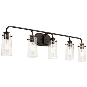 Braelyn Old Bronze Five-Light Wall Sconce