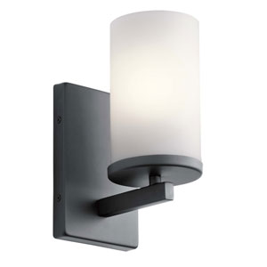 Crosby Black One-Light Wall Sconce