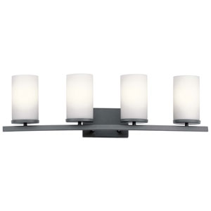 Crosby Black Four-Light Bath Vanity