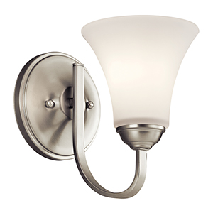 Keiran Brushed Nickel One-Light Energy Star LED Wall Sconce