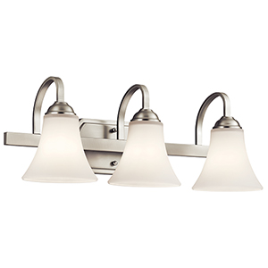 Keiran Brushed Nickel Three-Light Energy Star LED Bath Vanity