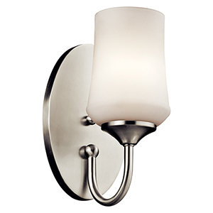 Aubrey Brushed Nickel One-Light Energy Star LED Wall Sconce