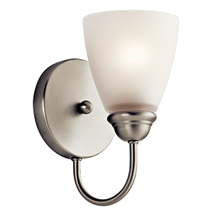 Jolie Brushed Nickel One-Light Energy Star LED Wall Sconce