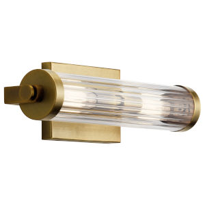 Azores Natural Brass 16-Inch Two-Light Wall Sconce