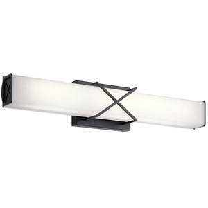 Trinsic Matte Black Two-Light LED Bath Bar
