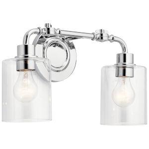 Gunnison Chrome 17-Inch Two-Light Bath Vanity