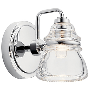 Talland Chrome One-Light Wall Sconce