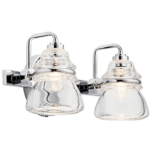 Talland Chrome Two-Light Wall Sconce