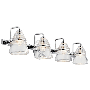 Talland Chrome Four-Light Wall Sconce