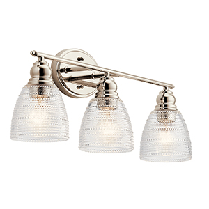 Karmarie Polished Nickel Three-Light Wall Sconce