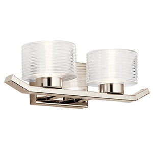 Lasus Polished Nickel Two-Light Wall Sconce