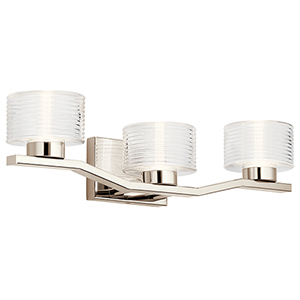 Lasus Polished Nickel Three-Light Wall Sconce