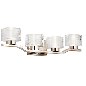 Lasus Polished Nickel Four-Light Wall Sconce