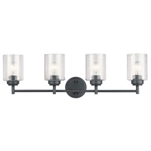 Winslow Black Four-Light Bath Vanity