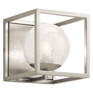 Karia 1-Light Wall Sconce in Brushed Nickel