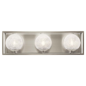Karia 3-Light Bath Light in Brushed Nickel