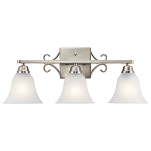 Bixler Brushed Nickel Three-Light Energy Star LED Bath Vanity