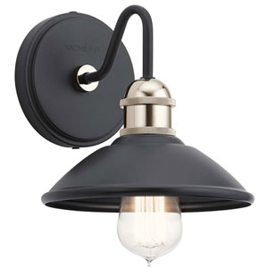 Clyde Black One-Light Wall Sconce