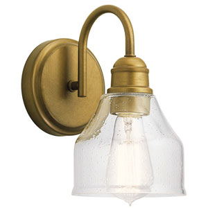 Avery Natural Brass One-Light Wall Sconce