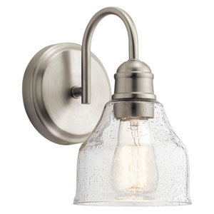 Avery 1-Light Wall Sconce in Brushed Nickel